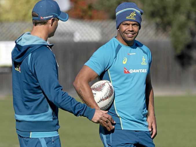 Kurtley Beale won't take long-range kicking duties against the Springboks.