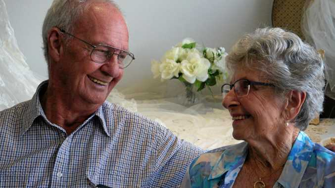 IN LOVE: Harold and Nan Crozier celebrate their 60th wedding anniversary at the Crowley retirement village boardroom, Ballina.