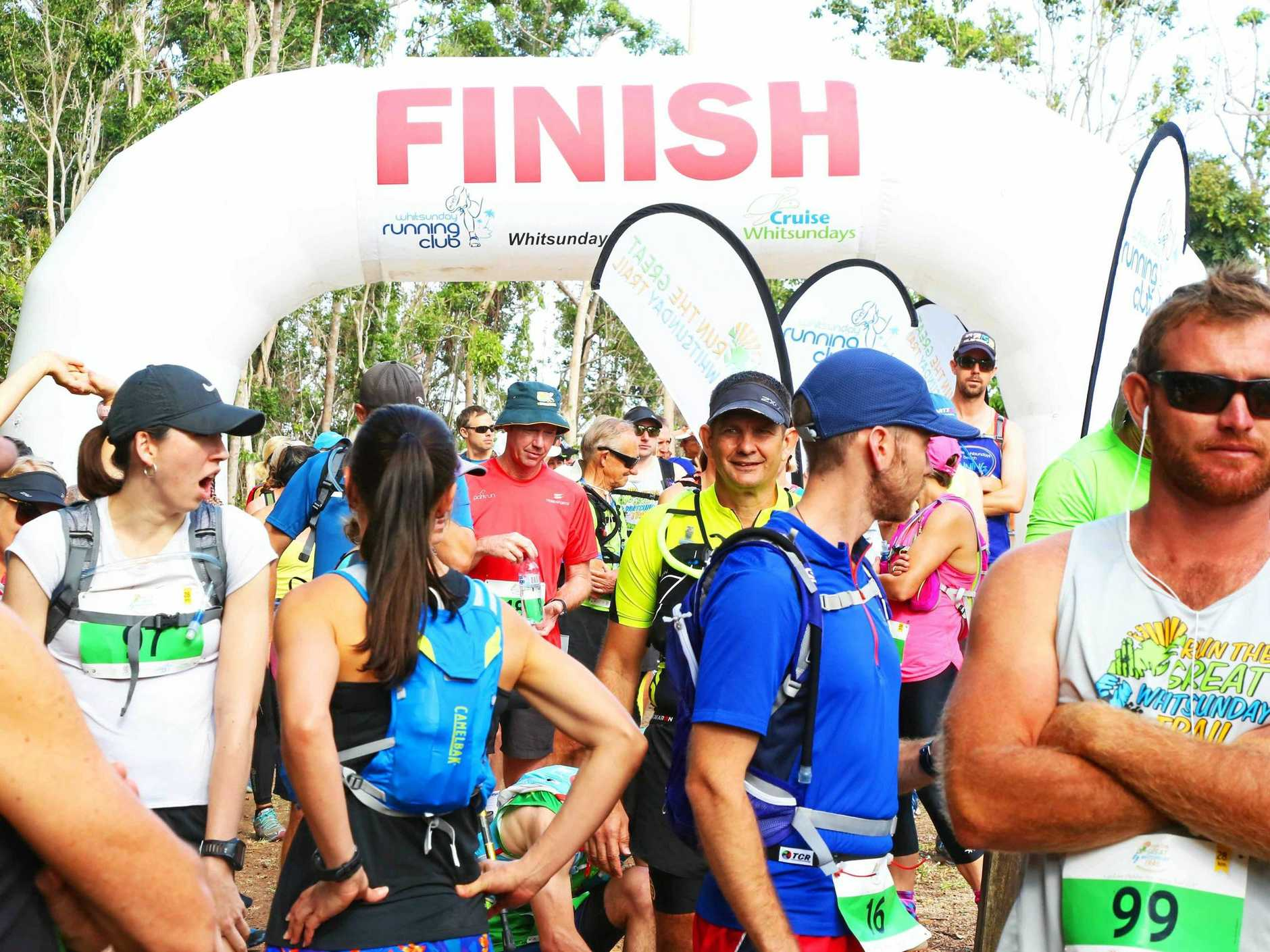 Race briefing at the start of the Run the Whitsunday Trail.