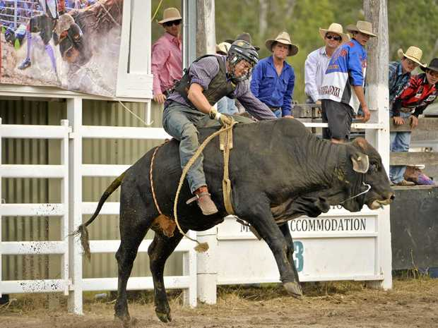 TWO PLACINGS: Tim Tate, pictured in a rodeo at Miriam Vale, recorded a first and second at the Southern Downs Ag Warwick Rugby League Rodeo.