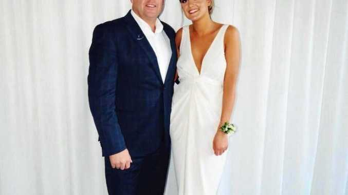 Ms Odey, pictured with her father, is sharing her story with The Northern Star ahead of the launch of her health blog and moving to Byron Bay from Brisbane in October.