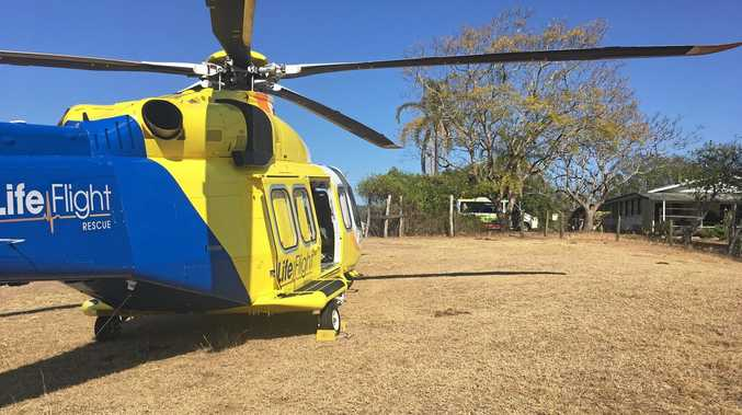 The RACQ LifeFlight rescue helicopter has been called to a Sunshine Coast hinterland crash.