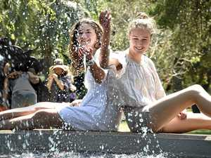 Toowoomba sweltered, but sizzling temperatures still to come