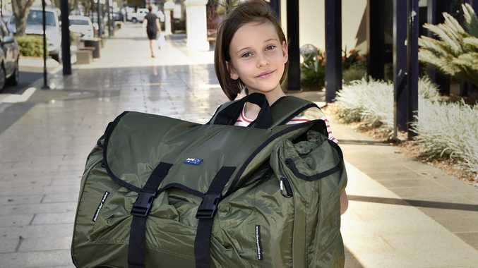 Valentina Holland, at just 7 years old, raises money for the homeless to purchase backpack beds. September 2017