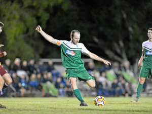 DANGER MAN: Clinton FC's Mitch Innocend was the club's leading goal scorer in 2017.