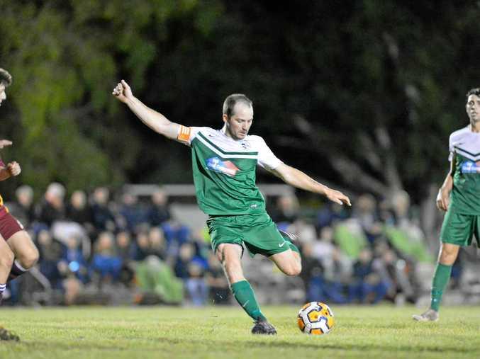 DANGER MAN: Clinton FC's Mitch Innocend was the club's leading goal scorer in 2017.