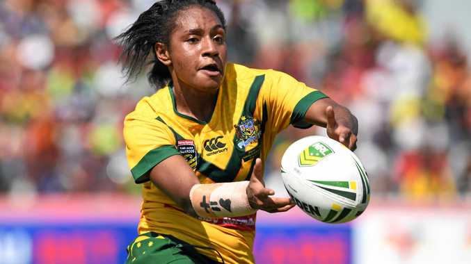 HOMECOMING: Brothers star Amelia Kuk played a key role for the Jillaroos against the PNG Orchids. Kuk was born in PNG and represented the country in Rugby Sevens.
