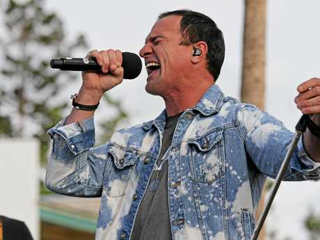 Shannon Noll performing his Aussie classic 'What about me' he will be in Airlie this year for the Airlie Beach Music Festival.