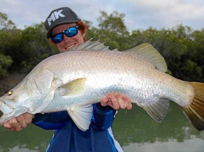 Corey Fahl caught a great barramundi at Constant Creek.