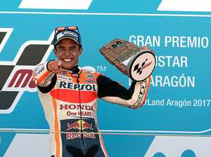Marquez takes win, outright lead in MotoGP series