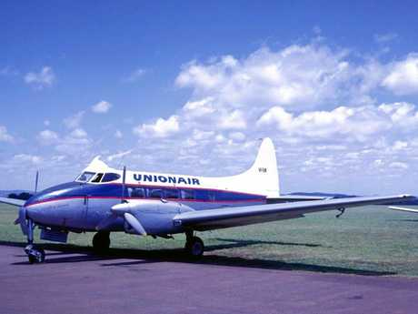 IN WORKING ORDER: The aircraft was in its prime being operated by Unionair of Toowoomba in the 1960s as VH-RUW City of Toowoomba.
