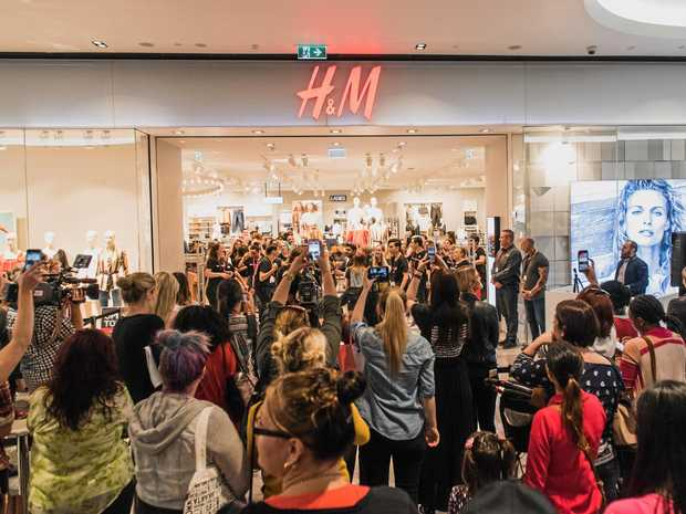 SHOPPERS REJOICE: H&M will open its Rockhampton doors before the year is out. File photo of crowds waiting for H&M at Grand Central.