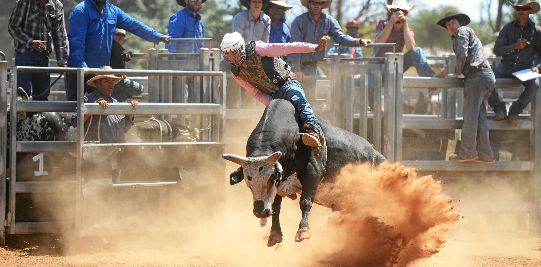 Cowboy Malcolm Woodard shows some good form at the Woorabinda Indigenous Rodeo held at the weekend.