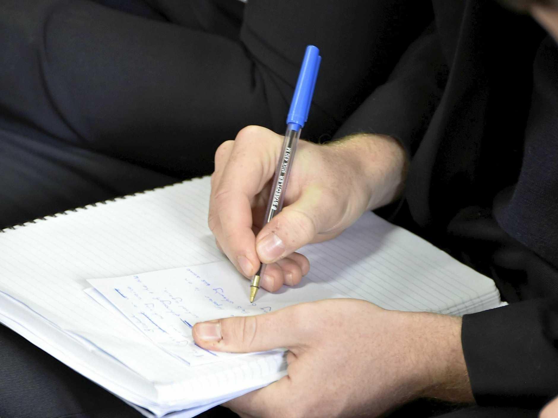 Scriptophobia is the fear of writing in public.