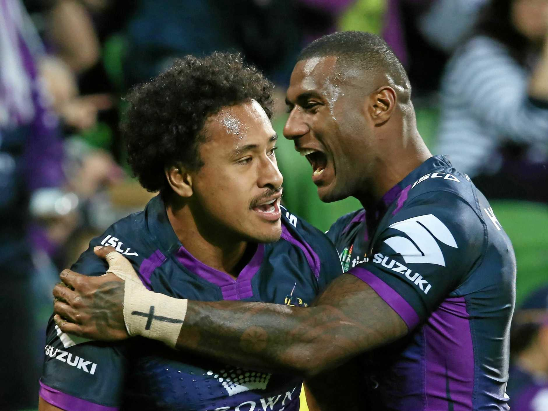 Storm star Felise Kaufusi (left) will play against his old club.