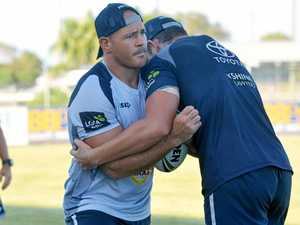 RAPID RECOVERY: Cowboy Matt Scott at training.