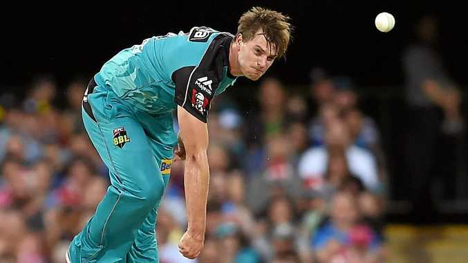 Mark Steketee of the Heat bowls during the Big Bash League match between the Brisbane Heat and the Hobart Hurricanes at the Gabba last season.