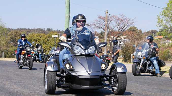Bikes take off from Lions Park for the Distinguished Gentlemen's Ride in and around Stanthorpe on Sunday, September 24.