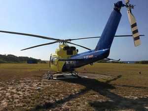 Holiday cut short as woman, baby airlifted from Fraser Is