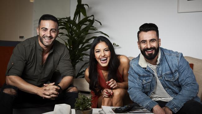 Gogglebox's new trio — Jad, Sarah Marie and Matty.