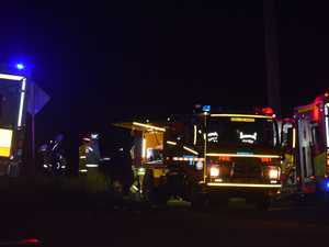 Woman fighting for life after Warrego Hwy collision