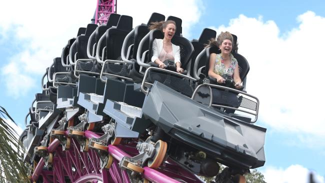 The hypercoaster opened officially last week. Picture Glenn Hampson.