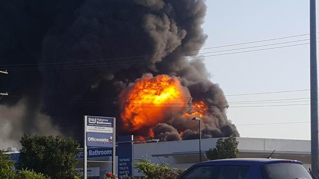 Fire behind Officeworks on Sandgate Rd, Virginia.