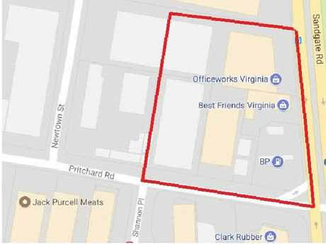 Police have restricted access to this area, after a huge fire in a plastics factory in Virginia, in Brisbane's northern suburbs.