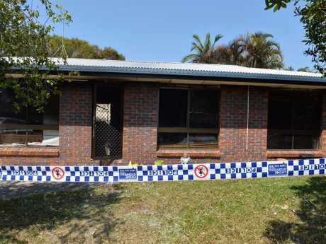 The brick home at Aroona was