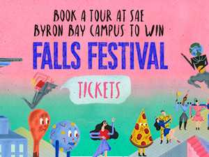 Win Falls Festival Tickets at SAE Byron's Oc-TOUR-ber! Book a tour of SAE Institute's Byron Campus this Oct or Nov for your chance to WIN!