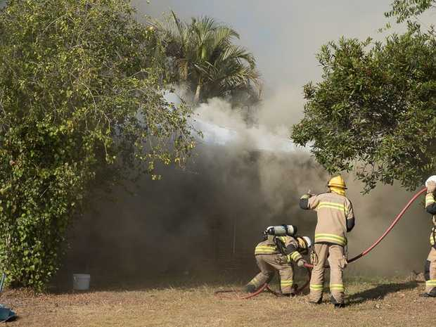 Fire crews raced to Aroona after a blaze broke out at a home.
