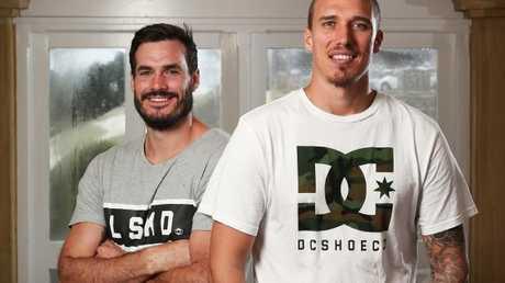 Australian Survivor contestants Lockie Gilbert and Luke Toki.
