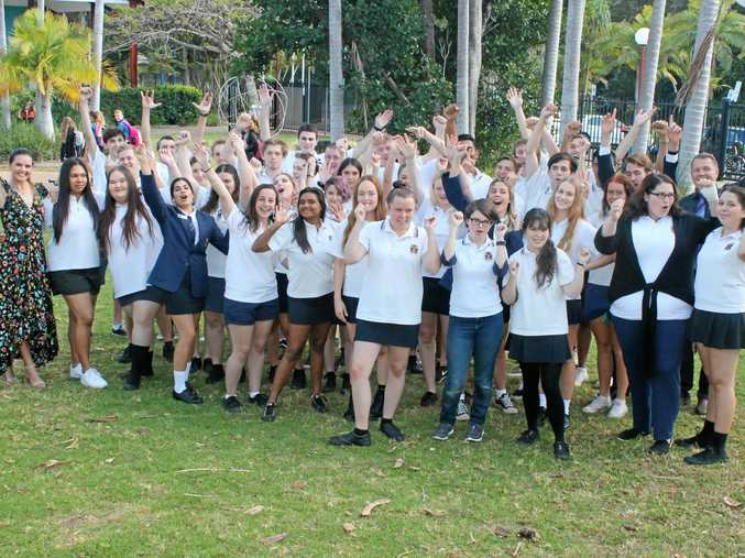 THE FINAL STUDENTS: Pictured are the Year 12 students who will be the last students to sit the Higher School Certificate under the banner of Ballina High School.
