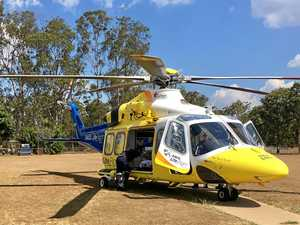 LifeFlight Rescue helicopter has airlifted a 21-year old male with serious injuries after he was ejected from a vehicle near Tara yesterday.