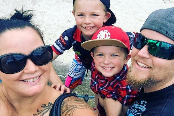 Christian Finck, 34, was diagnosed earlier this month with Cauda Equina Syndrome, a spinal cord tumour which blocks the flow of spinal fluid and pushes on nerves.