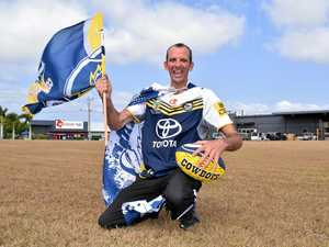 FOOTY FEVER: Watching the Cowboys play in the Grand Final next Sunday is a dream come true for massive Cowboys fan Steven Bell.