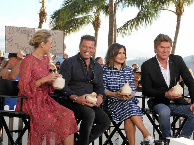 Today Show presenters Sylvia Jefferies, Karl Stefanovic, Lisa Wilkinson and Richard Wilkins won't be coming to the Tweed on Friday
