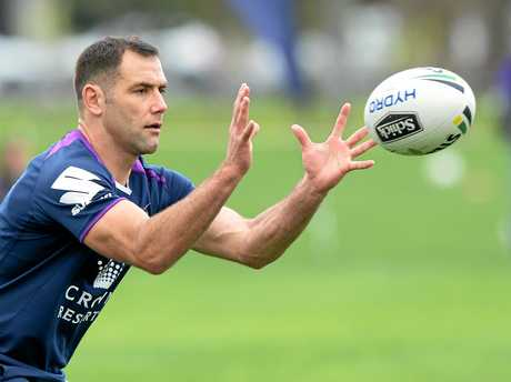 Cameron Smith of the Storm at a training session in Melbourne.