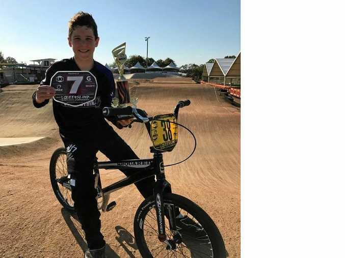 STATE SUCCESS: Toowoomba BMX rider Bart Steffen at the Queensland BMX Championships.