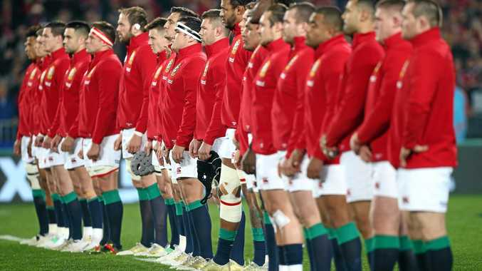 The British and Irish Lions face the haka before their Test against the All Blacks at Eden Park in July.