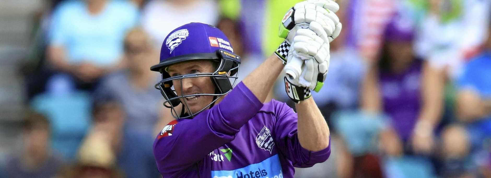 Veteran George Bailey batting for the Hurricanes in the Big Bash League.