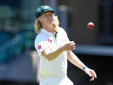 Mickey Edwards fielded as a substitute for Australia in January, and the Blues are expecting big things from the fast bowler.