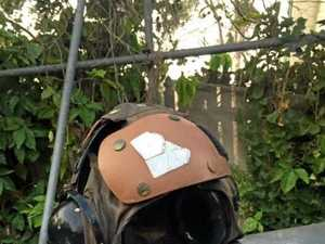 Aircraft helmet washes ashore