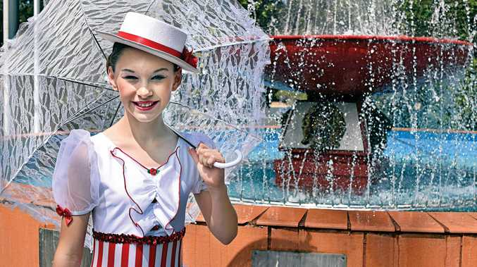 Supercallifragilisticexpialidocious! 12-year-old Jacinta Mcdonald from Lismore Public School performs a ballet routine based on the musical Mary Poppins.