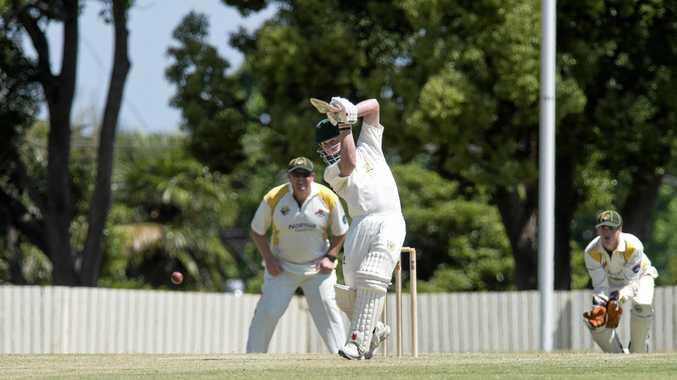 FOLLOW THROUGH: Wests batsman Matt Hallas plays a shot in last season's Harding-Madsen Shield grand final against Northsiders at Heritage Oval.