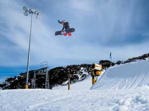 CHAMPION: Jesse Parkinson (inset) won the Division three Snowboard Slopestyle at the Australian Interschools Snowsports Championships.
