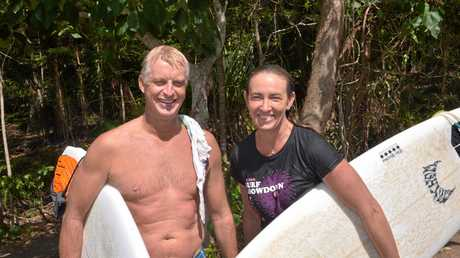 PETER Hogg with wife Kat and surfboards under arm may be at home riding waves in Noosa National Park but he fits right into the discipline of Australia's approach to the Winter Olympics. Photo: John McCutcheon / Sunshine Coast Daily