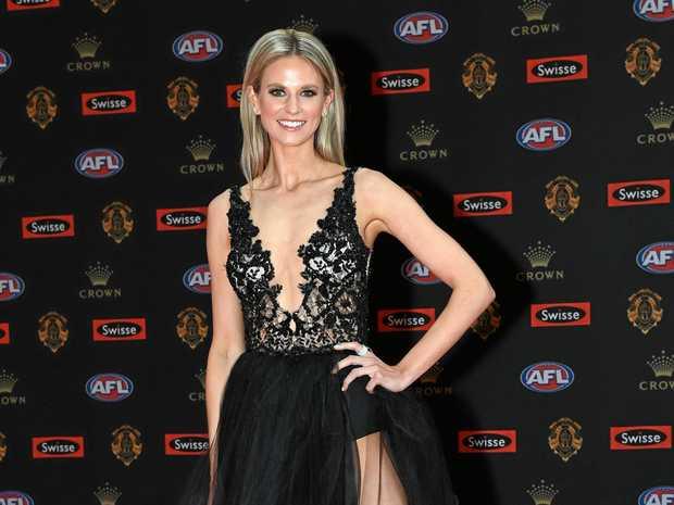 Lauren Tscharke looks stylish in this black gown.