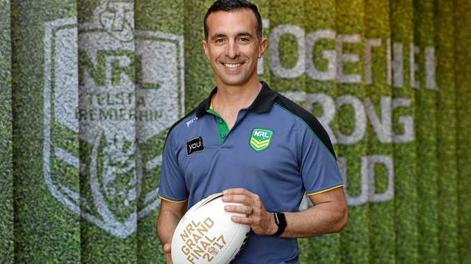 NRL referee Matt Cecchin poses for a photograph after being announced as lead referee for the NRL Grand Final in Sydney, Tuesday, September 26, 2017.