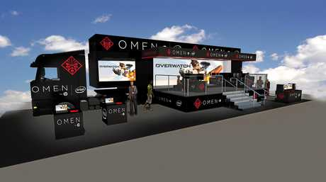 The OMEN mobile gaming arena will be at Park Beach Plaza next Tuesday for two days of solid gaming.